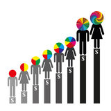 Qualifications and Career. Earned income depending on the skills and experience Stock Photo