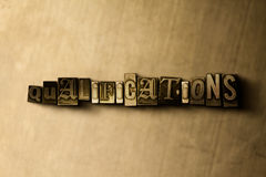QUALIFICATIONS - close-up of grungy vintage typeset word on metal backdrop Royalty Free Stock Images
