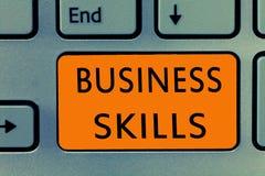 Qualifications conceptuelles d'affaires d'apparence d'écriture de main Texte de photo d'affaires une capacité d'acquérir l'effort photo stock