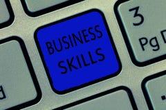 Qualifications d'affaires d'apparence de note d'écriture Photo d'affaires présentant une capacité d'acquérir l'effort systématiqu photographie stock libre de droits