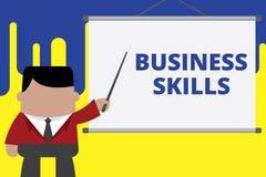 Qualifications d'affaires d'?criture des textes d'?criture Concept signifiant une capacit? d'acqu?rir l'effort syst?matique des f image stock