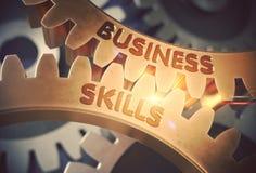 Qualifications d'affaires sur les vitesses d'or illustration 3D Photos libres de droits