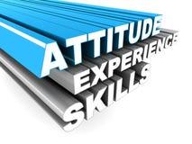 Qualifications d'expérience d'attitude illustration stock