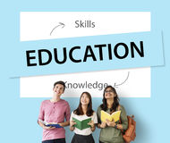 Qualifications de la connaissance d'éducation apprenant le concept Images stock