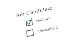 Qualified candidate check Stock Image