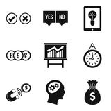 Qualified personnel icons set, simple style. Qualified personnel icons set. Simple set of 9 qualified personnel vector icons for web isolated on white background Stock Photo