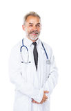 Qualified physician diagnostician, with a stethoscope Royalty Free Stock Photos
