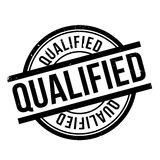 Qualified rubber stamp Stock Images