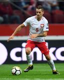 Qualifikationsmatch Weltcup Rusia 2018 Polen - Kasachstan Lizenzfreie Stockfotos