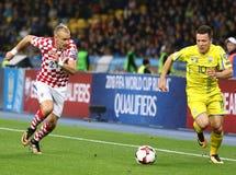 Qualifizierende Fußball-Weltmeisterschaft 2018: Ukraine V Kroatien stockbild