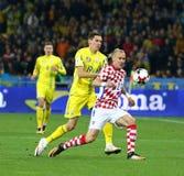 Qualifizierende Fußball-Weltmeisterschaft 2018: Ukraine V Kroatien lizenzfreies stockfoto