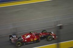 Qualifizierendes Rennen Singapur-Formel-1 lizenzfreie stockbilder