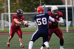 Qualifying match of American Football European Championship 2016 Russia vs Norway Stock Photo