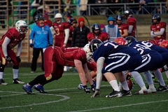 Qualifying match of American Football European Championship 2016 Russia vs Norway Royalty Free Stock Photography