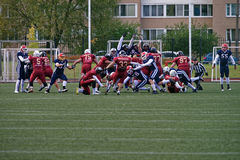 Qualifying match of American Football European Championship 2016 Russia vs Norway Stock Image
