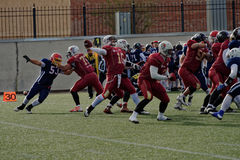 Qualifying match of American Football European Championship 2016 Russia vs Norway Stock Images