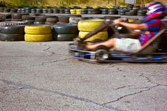 Qualifying rounds of children's sport races Royalty Free Stock Images