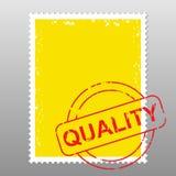 Qualità del francobollo Immagine Stock