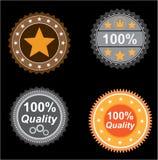 Qualità delle icone Immagine Stock