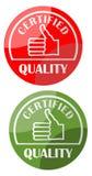 Qualità di logo certificata illustrazione di stock