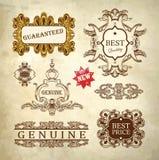 Qualità premio di lusso reale decorata e garanzia Fotografia Stock