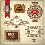 Qualità premio di lusso reale decorata e garanzia Immagine Stock