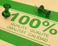 Qualität 100% Lizenzfreie Stockfotos