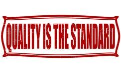 Qualität ist der Standard Lizenzfreies Stockbild