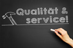Qualität & service! (Quality & service) Royalty Free Stock Photo