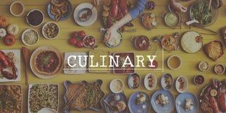 Qualitäts-Biokost-Küche-kulinarisches Konzept Stockfotografie