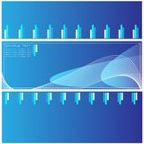 Qualitäts-Blau-Schablone Lizenzfreie Stockfotos