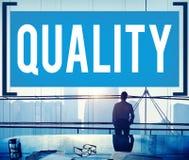 Qualitäts-Garantie-Wert-Grad-Zufriedenheits-Konzept Lizenzfreies Stockbild