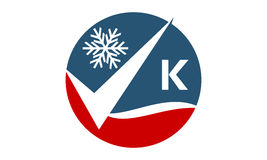 Qualitäts-Service-Klimaanlagen-Initiale K Stockfoto