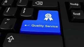 364 Qualitäts-Service-runde Bewegung auf Computer-Tastatur-Knopf stock video footage