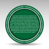 Qualitätsbeschreibungszeichen Lizenzfreies Stockbild