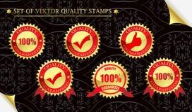 Qualitätsgarantie Stockbild