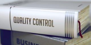 Qualitätskontrolle - Buch-Titel 3d Stockbild