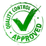 Qualitätskontrolle genehmigt stock abbildung