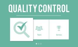 Qualitätskontrollverbesserungs-Entwicklungs-Konzept Stockfotografie