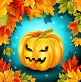 Qualitätsplakat für den Feiertag Halloween Auch im corel abgehobenen Betrag Lizenzfreie Stockfotografie