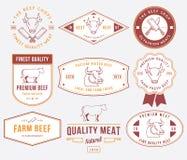 Qualitätsrindfleischfleisch 2 gefärbt Stockfotografie