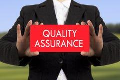 Qualitätssicherung lizenzfreie stockfotografie