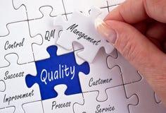 Qualitätssicherungspuzzlespiel Stockbilder