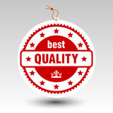 Qualitätsstempel-Preispapieraufkleber des Vektors roter bester stockbild