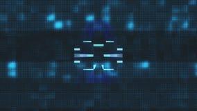 Qualité d'affichage de déformation d'écran de problème de symbole de serrure nouvelle d'animation de boucle de fond sans couture  illustration libre de droits