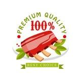 Qualité de la meilleure qualité, 100 pour cent, la meilleure conception bien choisie de calibre de logo, insigne pour le magasin  Image stock