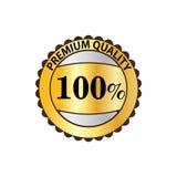 Qualité de la meilleure qualité icône d'or de label de 100 pour cent Photographie stock
