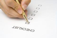Qualité du service de questionnaire de liste de contrôle Photos libres de droits