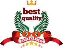 Qualité et une pleine marque de garantie Photo libre de droits