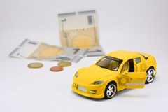 Qualitative children's toy, auto Stock Images